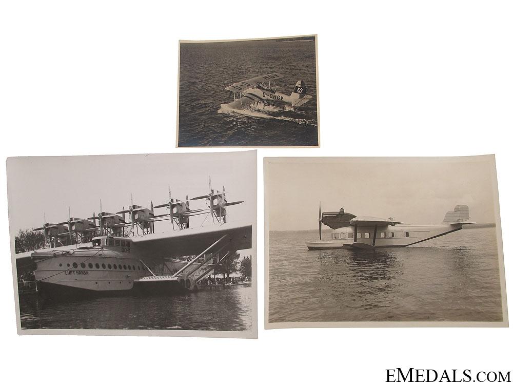 eMedals-Three WWII German Seaplane Photographs