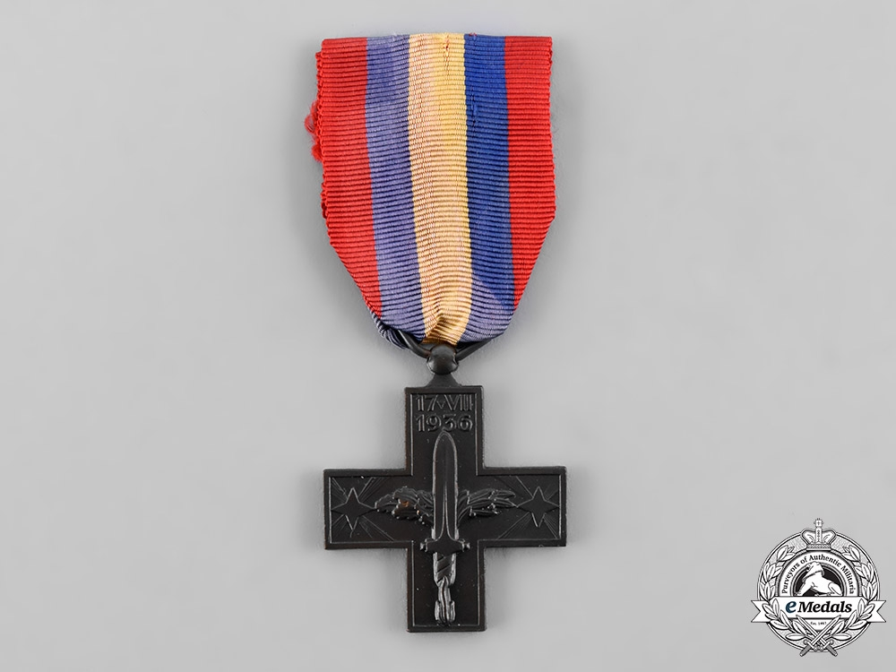 eMedals-Italy, Kingdom. A Commemorative War Cross for the Spanish Campaign, c. 1940