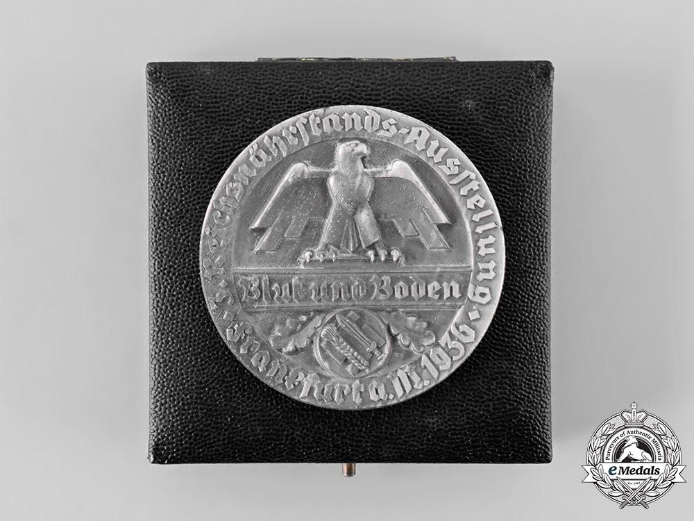 eMedals-Germany, RNST. An Unissued 1936 Frankfurt Reichsnährstand Merit Medal, with Case