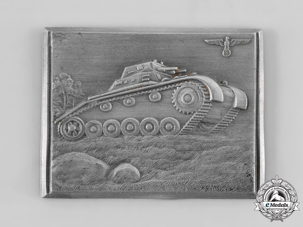 eMedals-Germany, Wehrmacht. A Panzer Company Commemorative Plaque