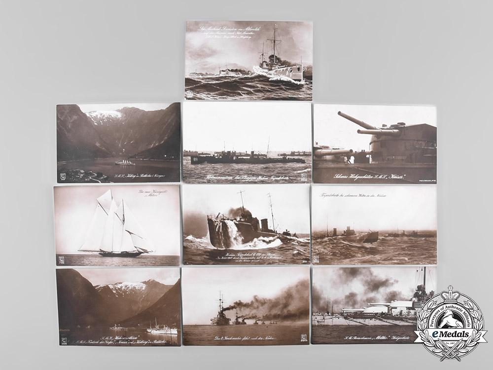 eMedals-Germany, Kriegsmarine. A Lot of Ten Naval Postcards