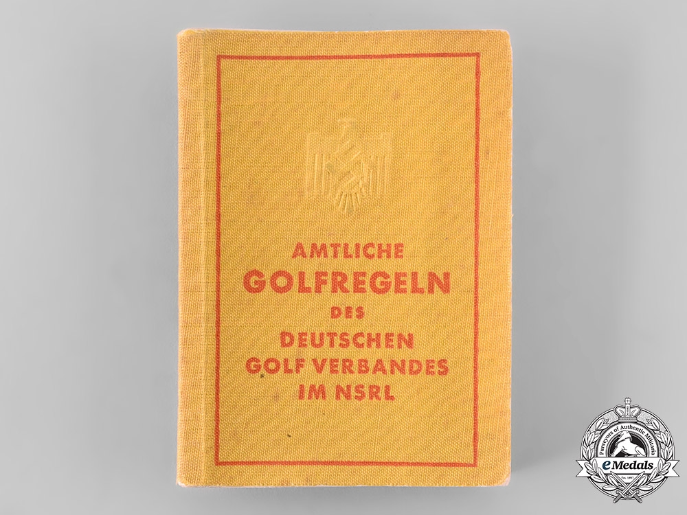 eMedals-Germany, NSRL. A National Socialist League of the Reich for Physical Exercise (NSRL) Official Golf Rulebook
