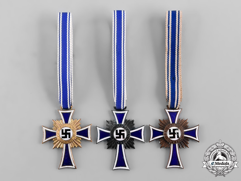 eMedals-Germany, Third Reich. A Group of Honour Crosses of the German Mother, All Grades