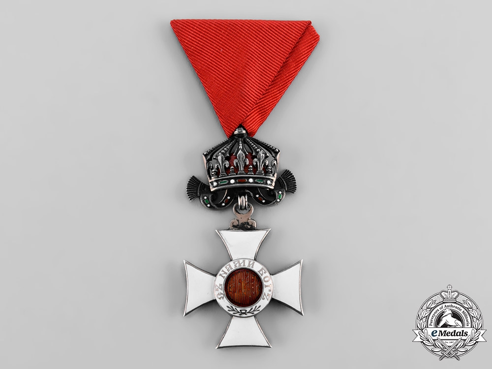 eMedals-Bulgaria, Kingdom. An Order of St. Alexander, V Class Knight with Crown, c.1935