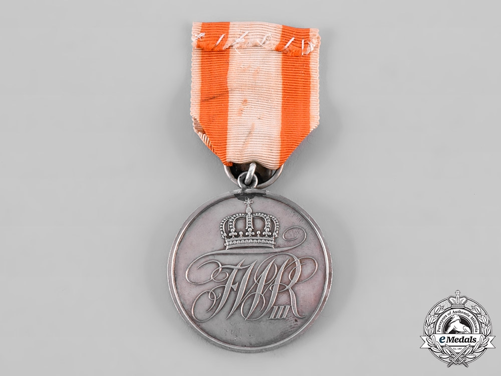 eMedals-Prussia, Kingdom. A General Merit Medal, Type III, II Class with Commemorative Button 50