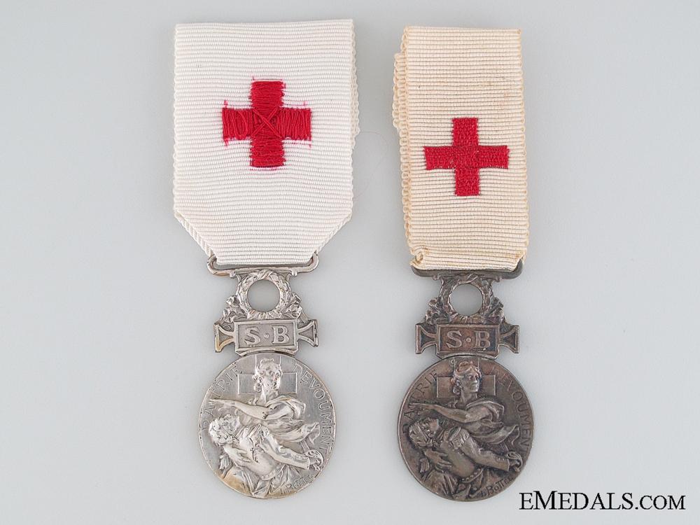 eMedals-Two 1864 Société de Secours aux Blessés Militaires Medals