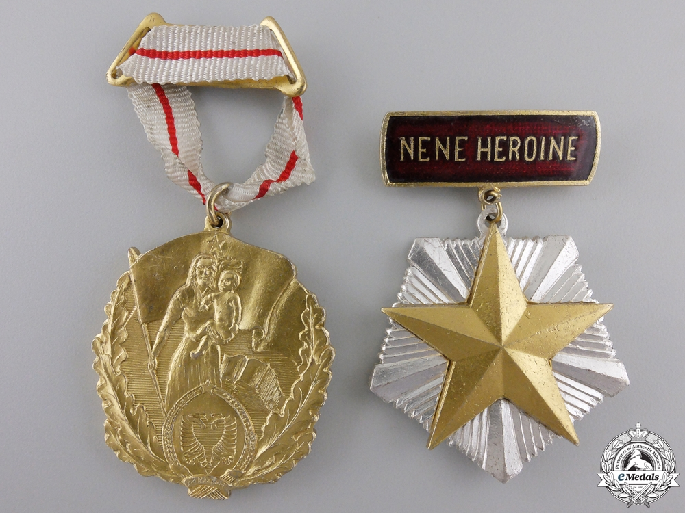 eMedals-Two Albanian Motherhood Medals