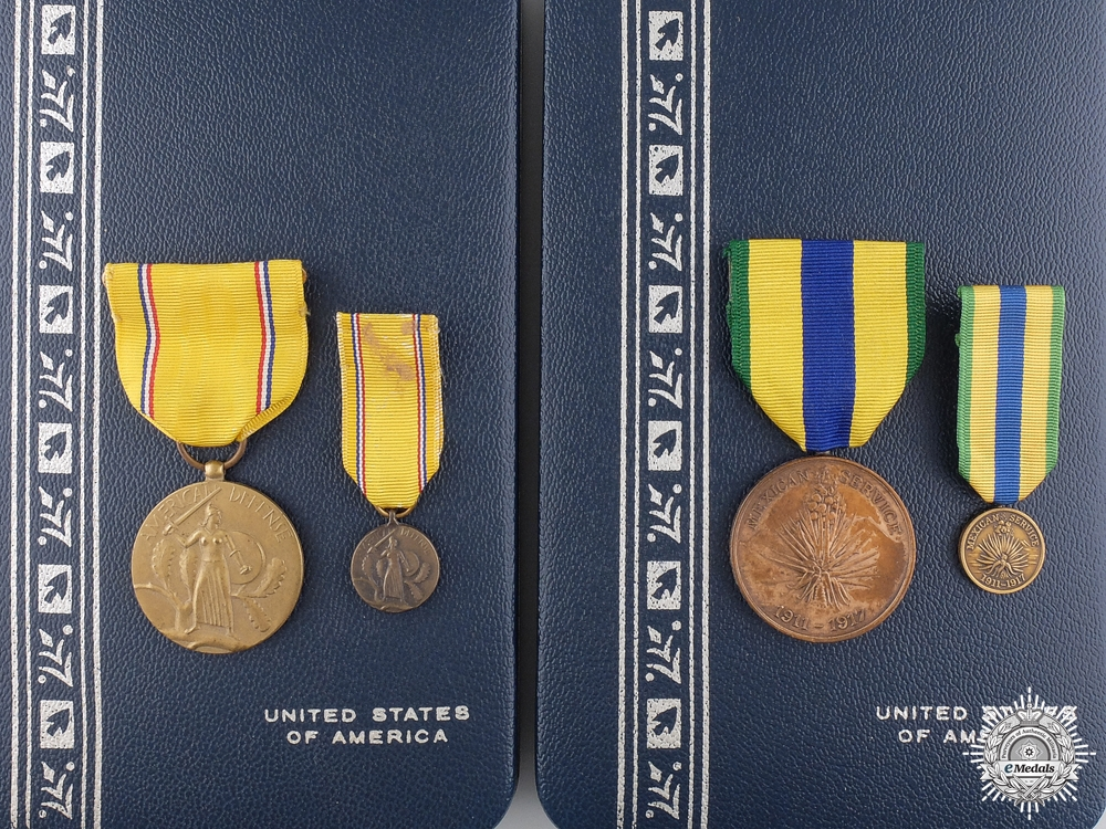 eMedals-Two American Service Medal with Cases