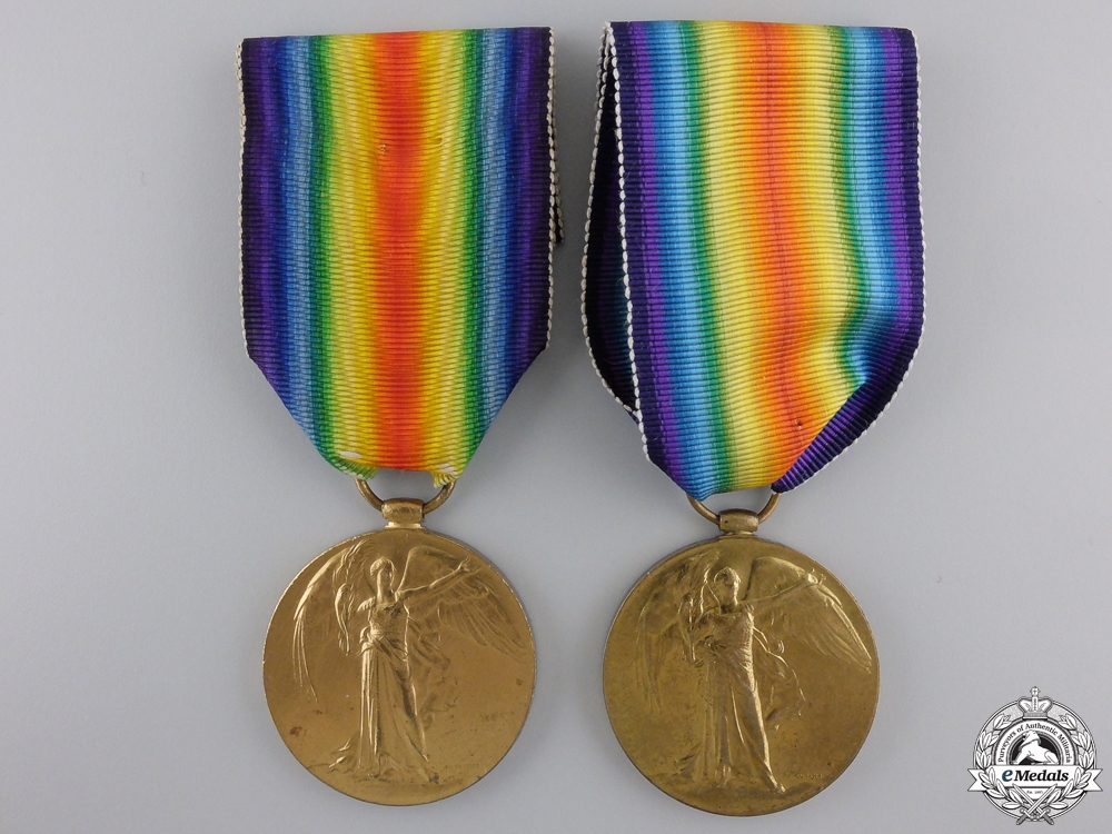 eMedals-Two Canadian First War Victory Medals  Consignment #28