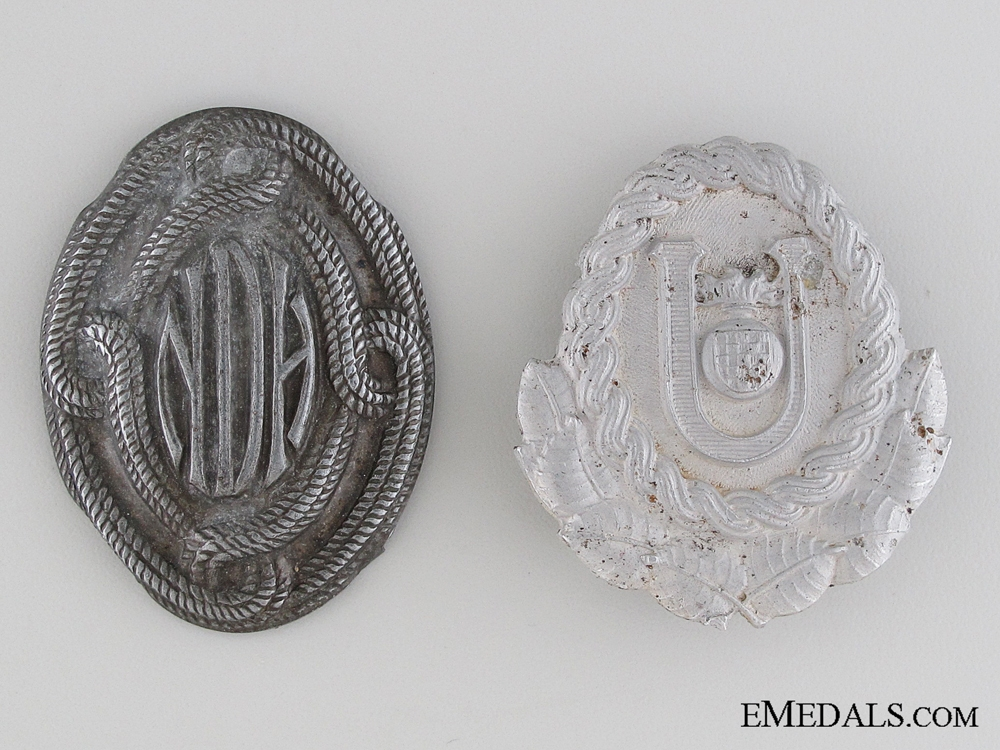 eMedals-Two Croatian Cap Badges