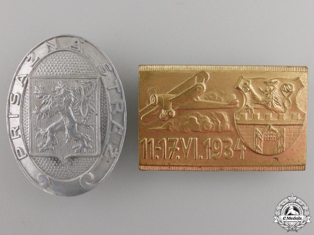 eMedals-Two Czechoslovakian Badges