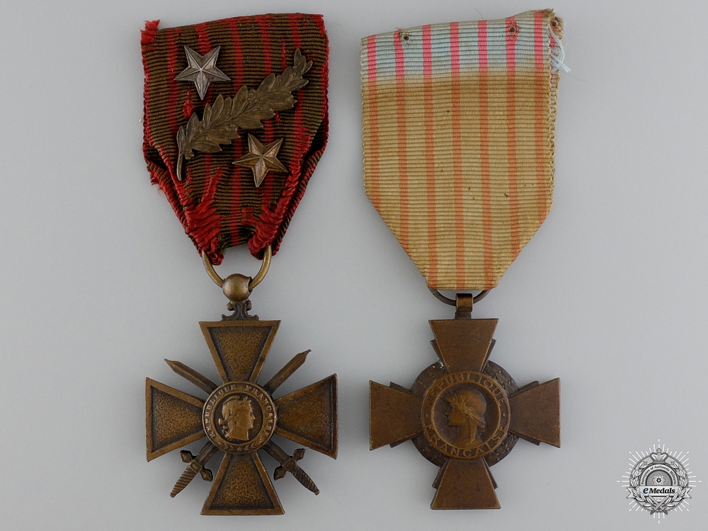 eMedals-Two First War French Medals and Awards