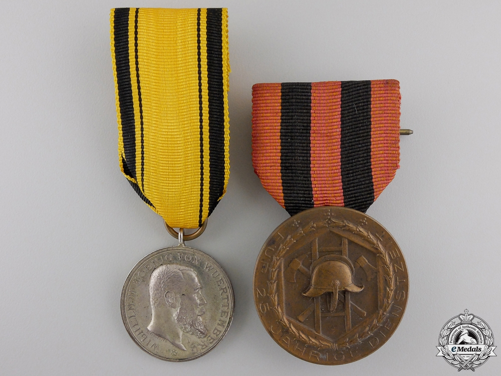 eMedals-Two First War Period Wurttemberg Medals