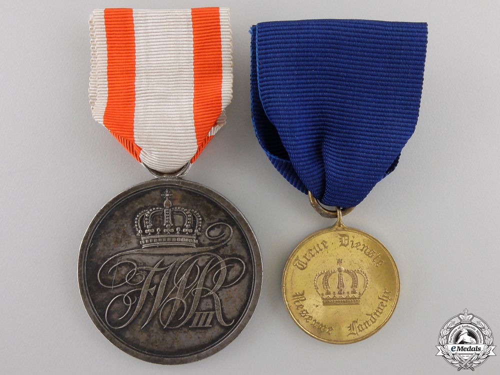 eMedals-Two First War Period Prussian Medals