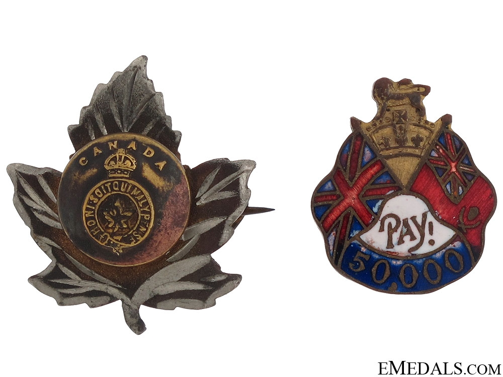 eMedals-Two First World War Canadian Pins
