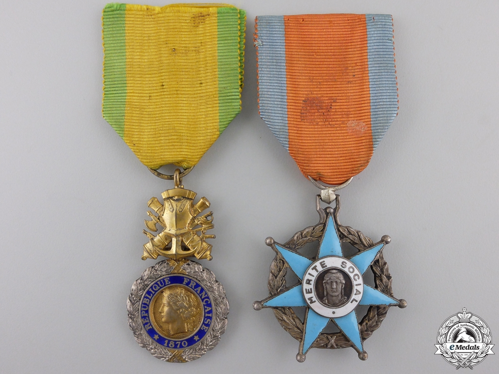 eMedals-Two French Orders and Medals