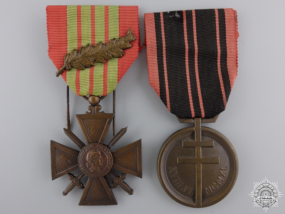 eMedals-Two French Second World War Two Medals