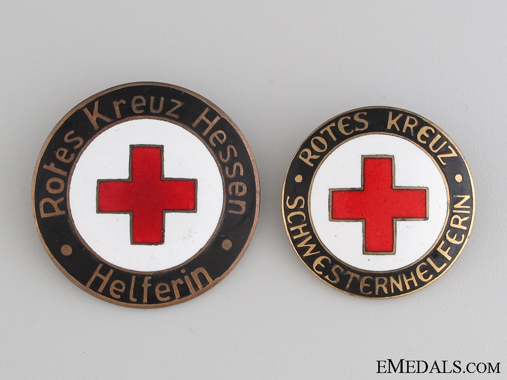 eMedals-Two German Red Cross Badges