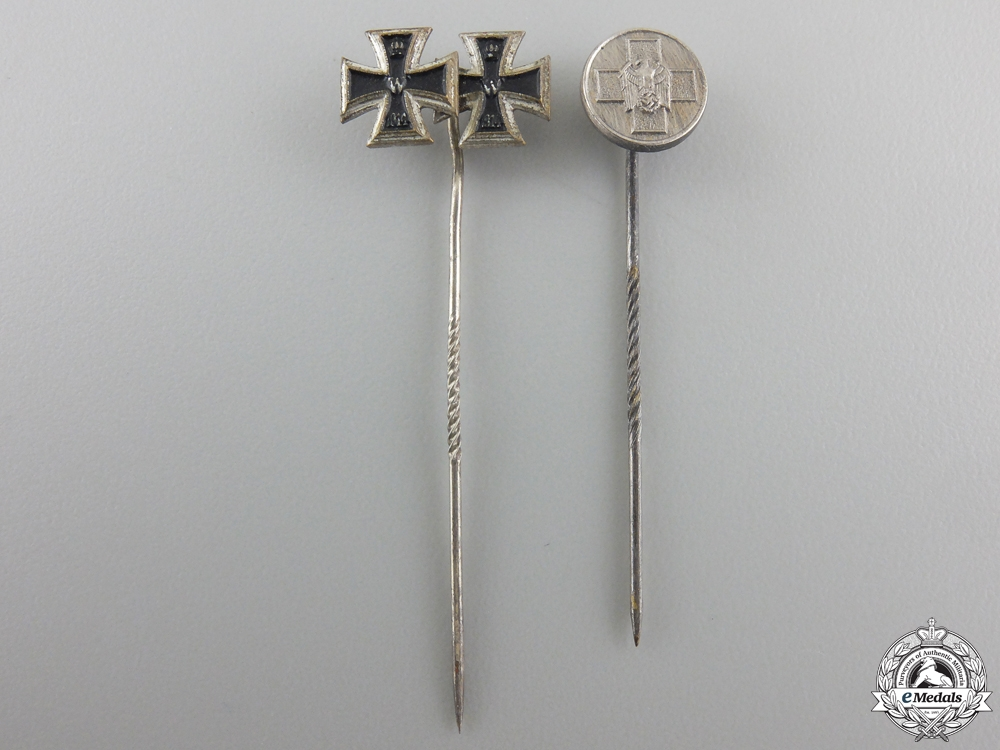 eMedals-Two German Stickpin Awards