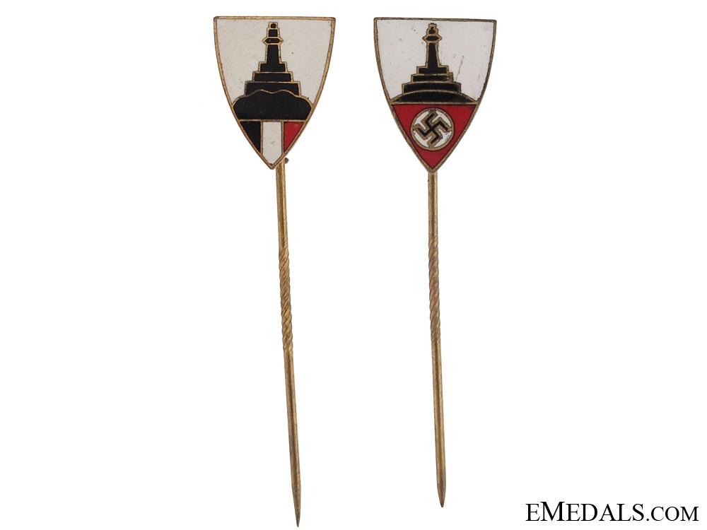 eMedals-Two German Veterans Association Stickpins