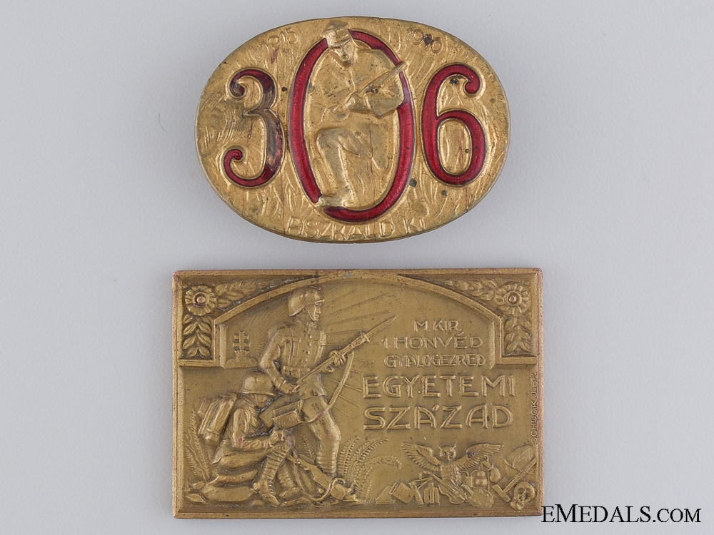 eMedals-Two Hungarian WWI Period Badges