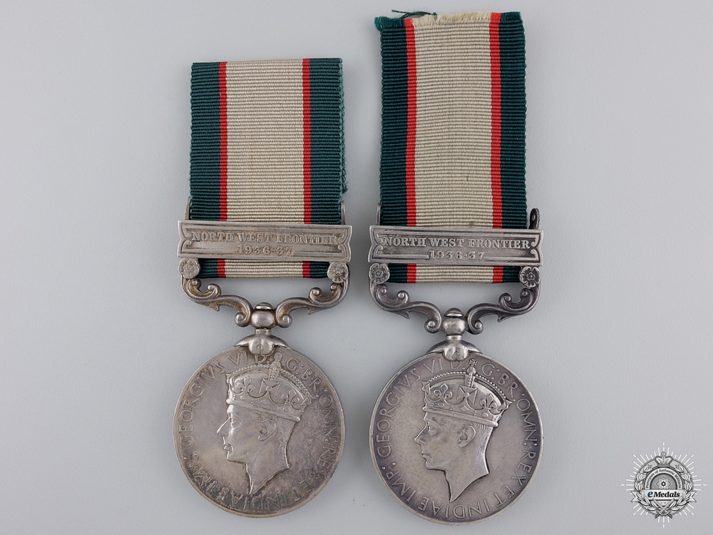 eMedals-Two India General Service Medals for Animal Transport
