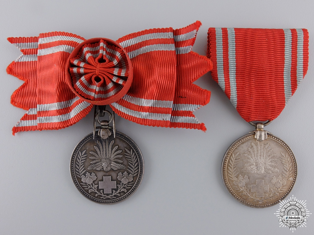 eMedals-Two Japanese Red Cross Medals