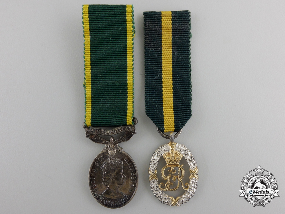 eMedals-Two Miniature British Decorations Medals