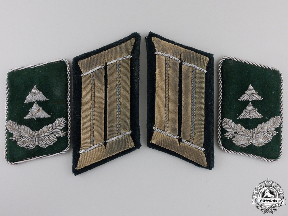 eMedals-Two Pairs of German Army & Luftwaffe Collar Tabs