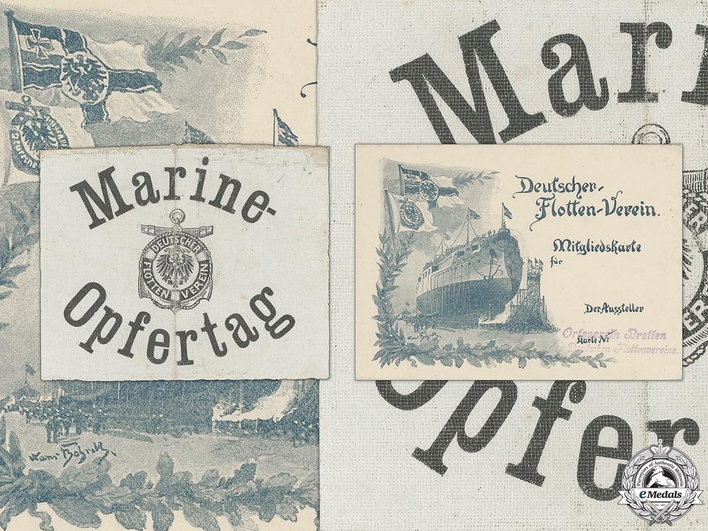 eMedals-Two Pre First War German Navy League Marine Items