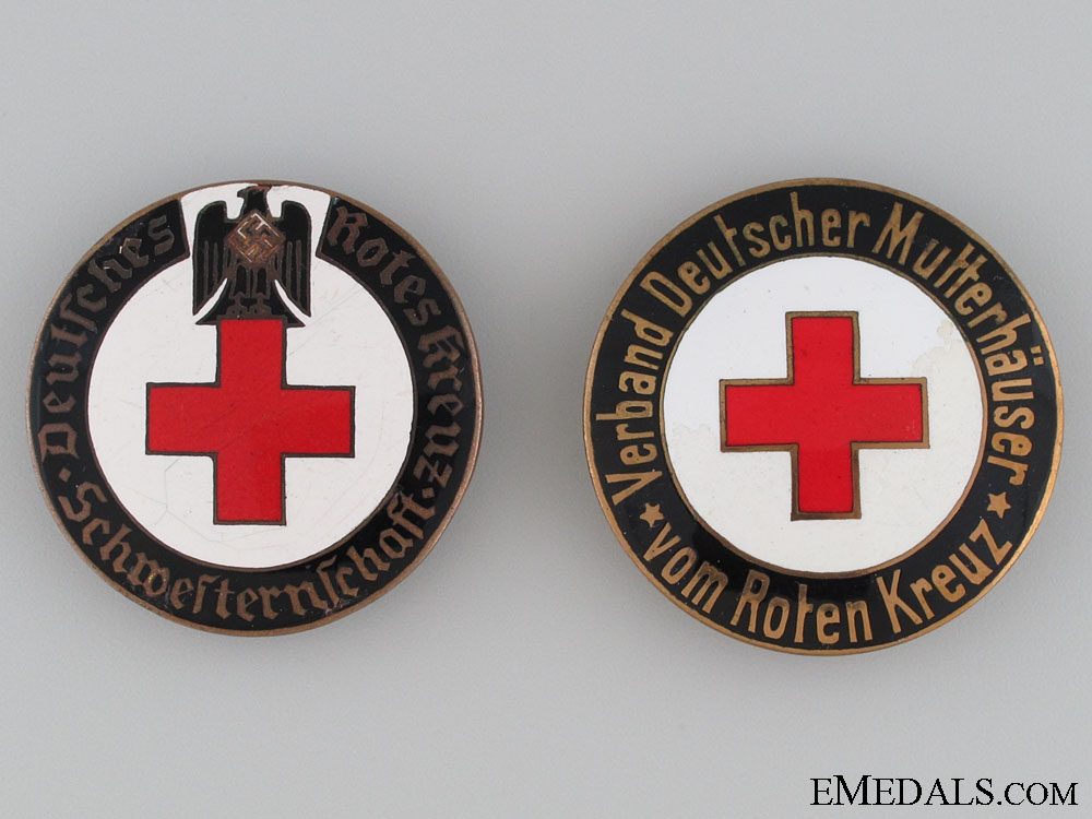 eMedals-Two Red Cross Badges