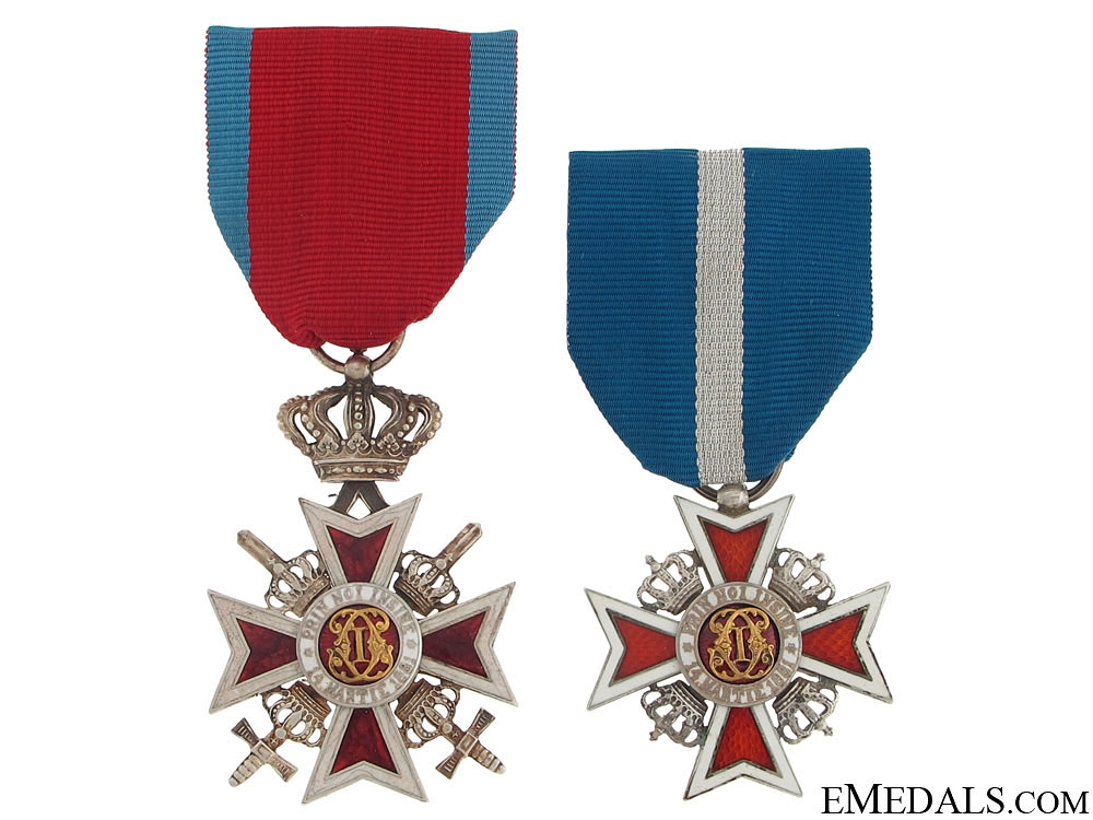 eMedals-Two Romanian Order of the Crowns
