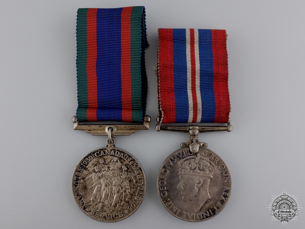 eMedals-Two Second War Canadian Issued Medals