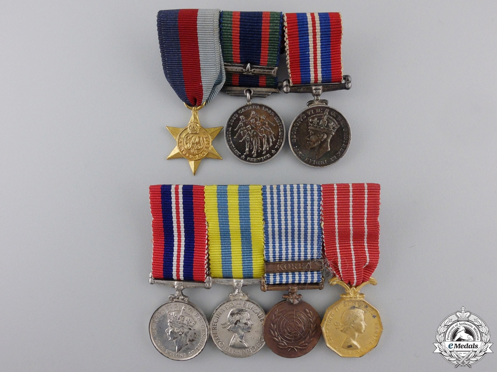 eMedals-Two Second War Canadian Miniature Medal Bars