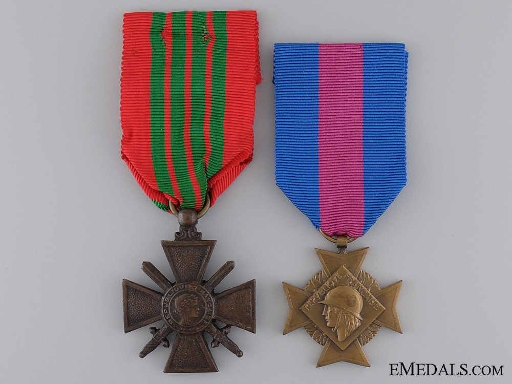 eMedals-Two Second War French Medals