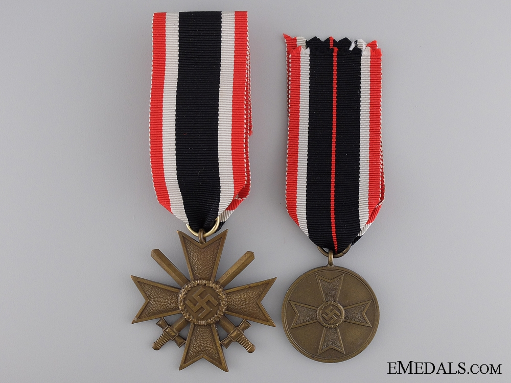 eMedals-Two Second War German Merit Awards