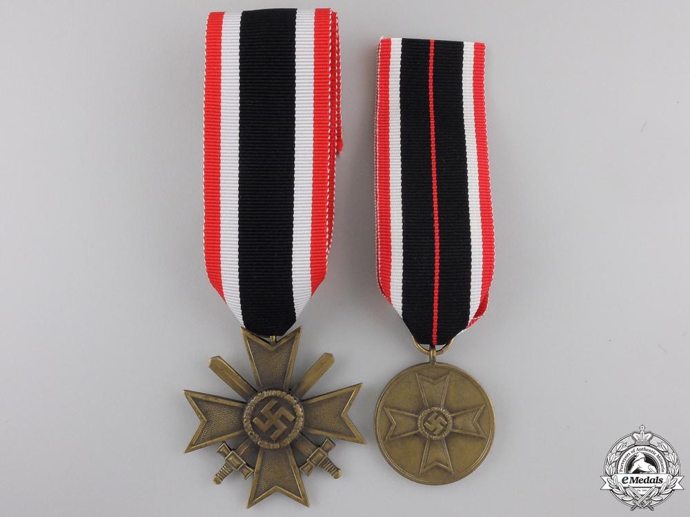 eMedals-Two Second War German War Merit Awards