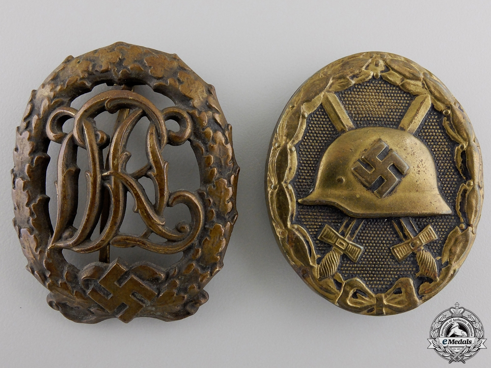 eMedals-Two Second War German Badges