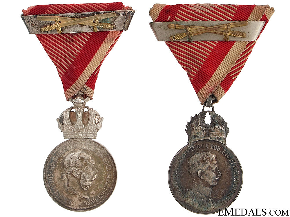 eMedals-Two Silver Signum Laudis Medals – WWI Period