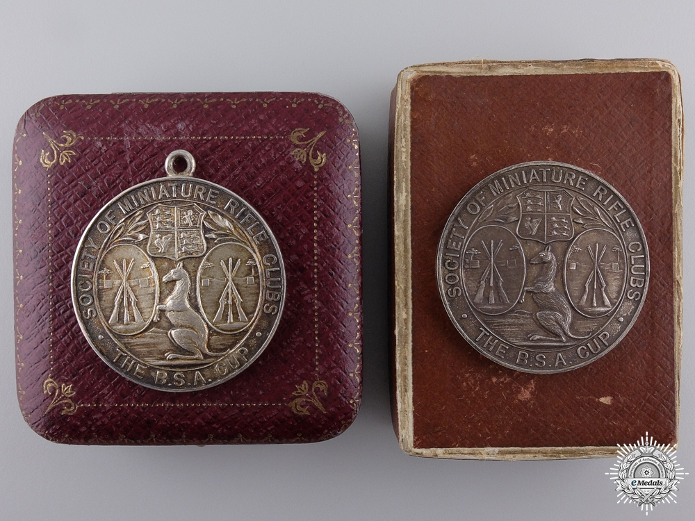 eMedals-Two Society Australian Rifle Clubs Award Medals; 1936 and 1937