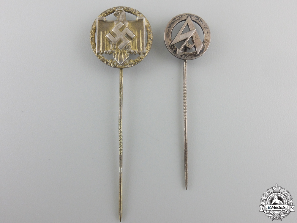 eMedals-Two Third Reich Stickpins