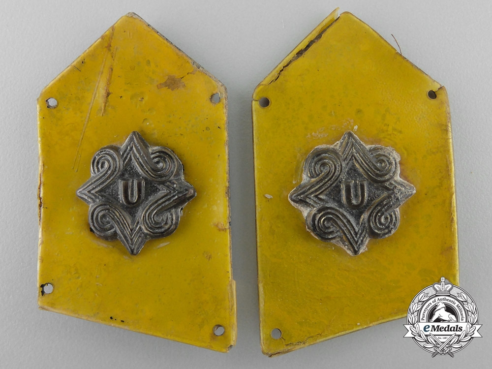 eMedals-A Croatian Set of Pavelic Body Guards (PTS) Cavalry Collar Tabs