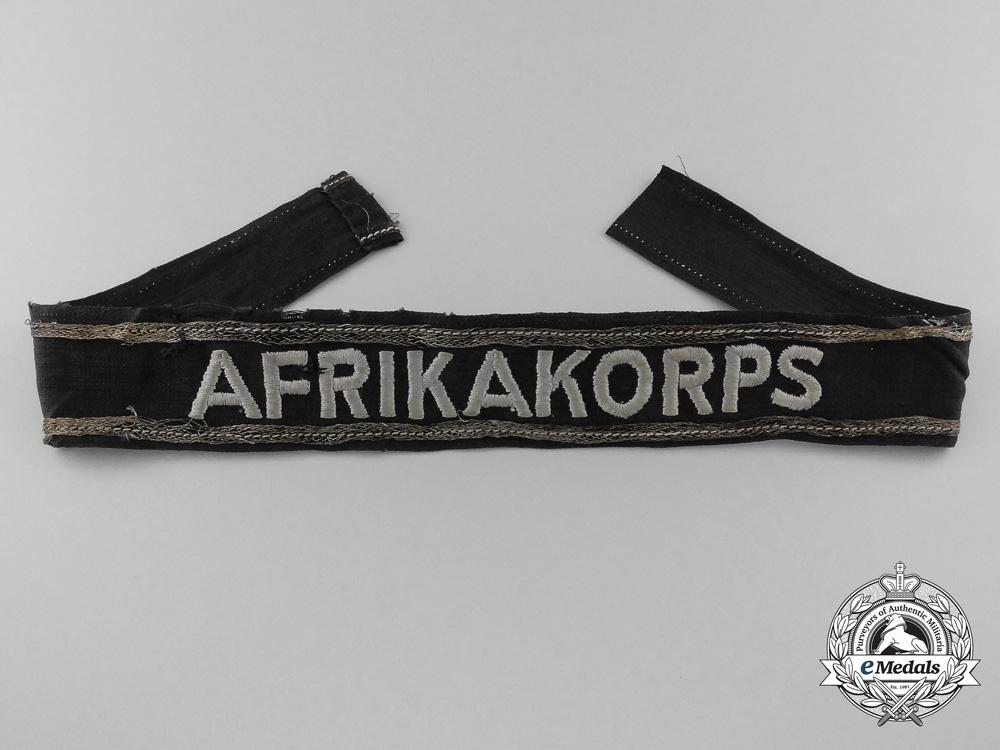 eMedals-An Afrika Korps Panzer Officer's Campaign Cufftitle