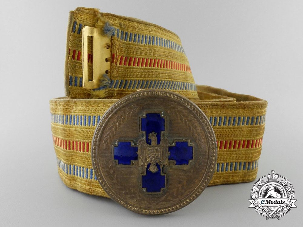 eMedals-A 1930's Period Royal Romanian Officer's Belt and Buckle