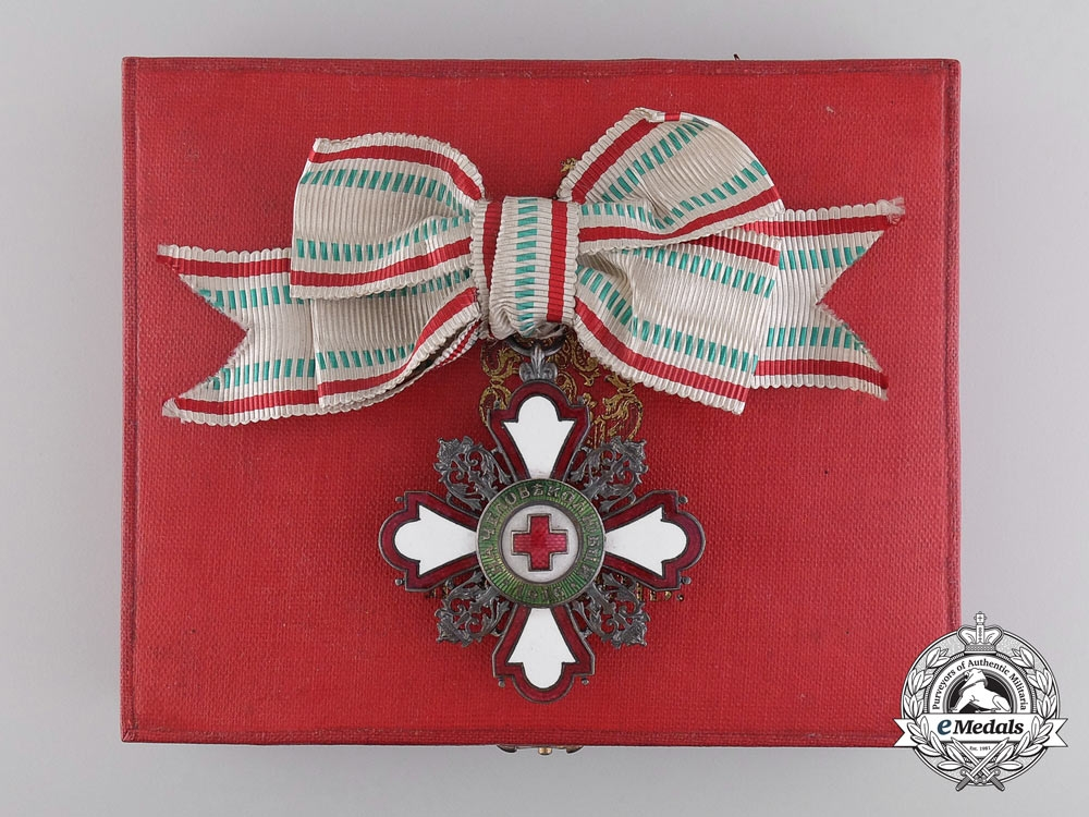 eMedals-A Bulgarian Red Cross Order; Second Class