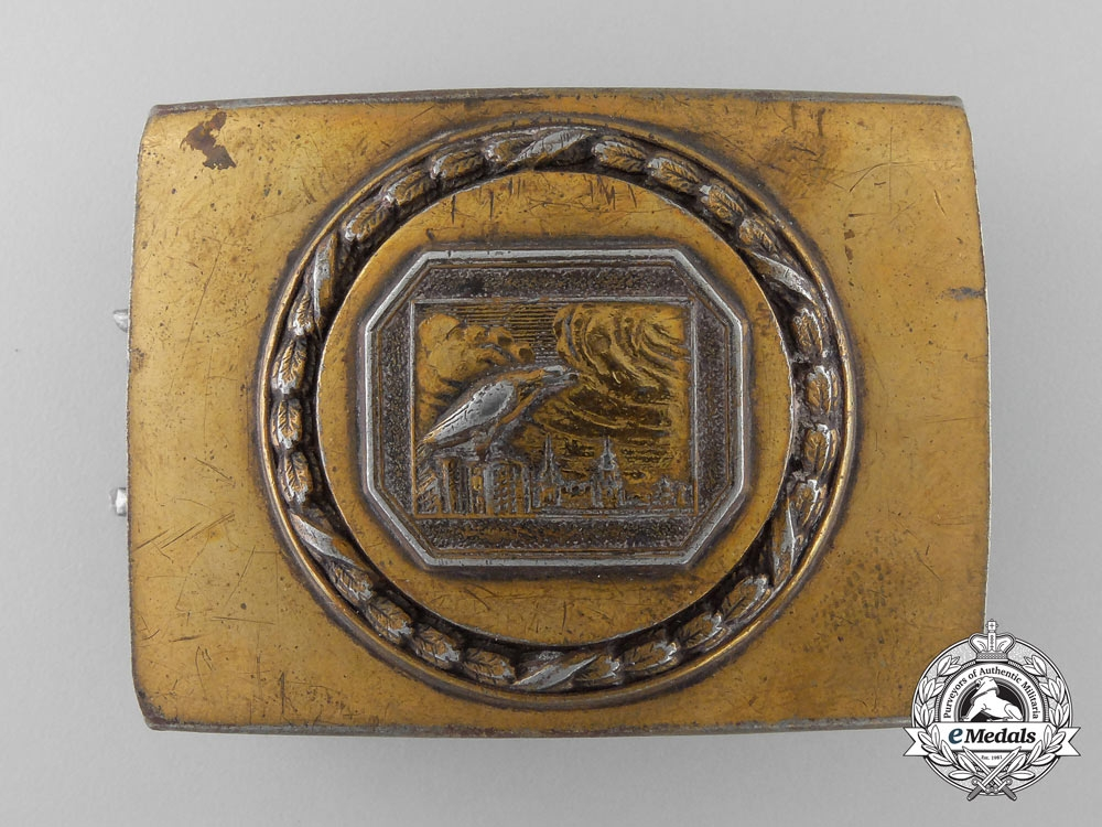 eMedals-A German Night Watchman's Guild Belt Buckle by Christian Theodor Dicke Co.