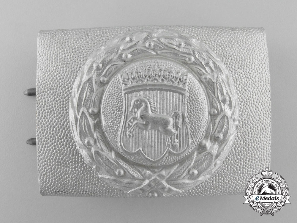 eMedals-Germany, Hanover. A Fire Defence Service Enlisted Man's Belt Buckle
