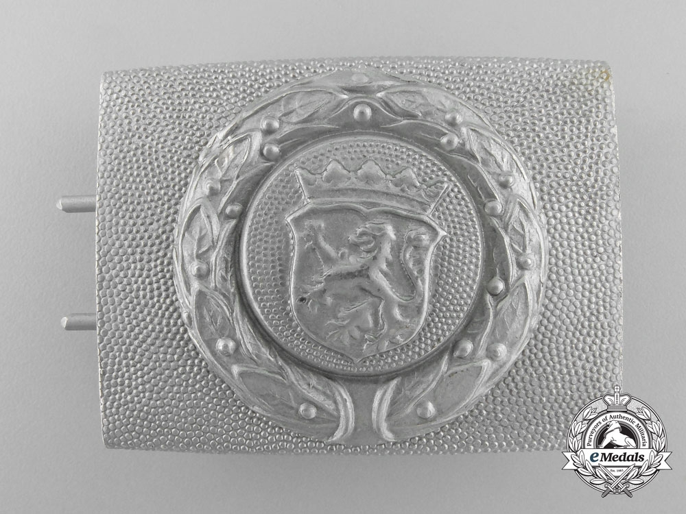 eMedals-A Free State of Hesse Fire Defence Service Enlisted Man's Belt Buckle; Published Example
