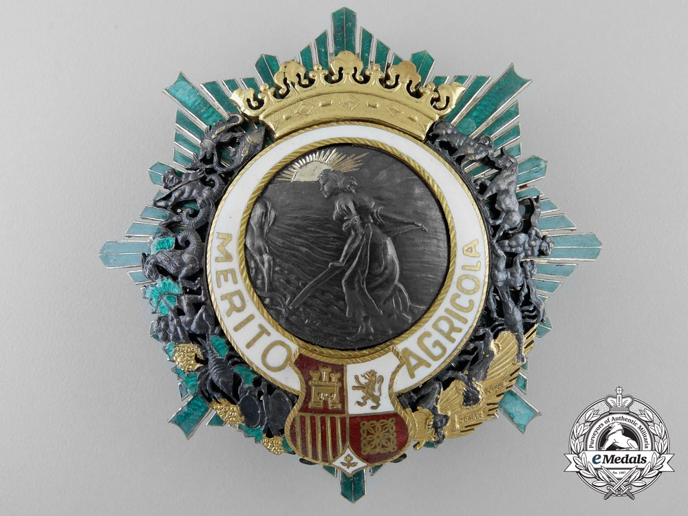 eMedals-Spain. An Order of Agricultural Merit, c.1930