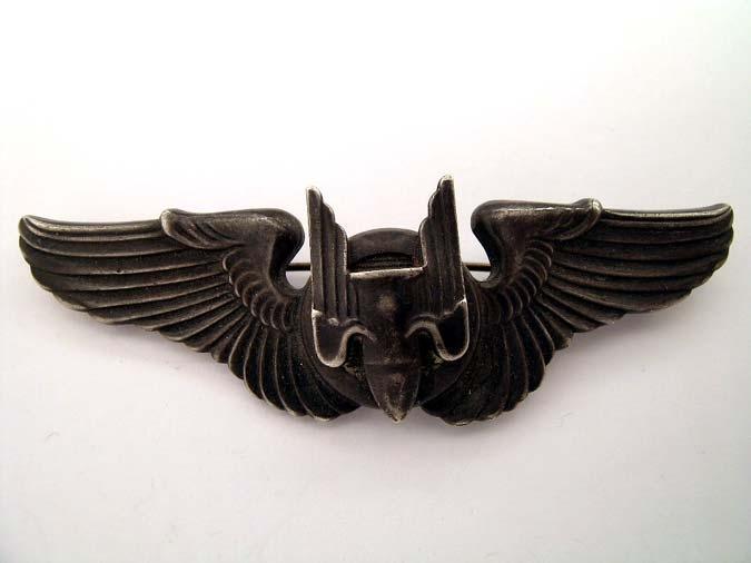 eMedals-Sterling WWII AAF Gunner Wing